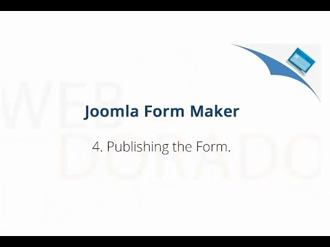 How to Publish Form with Joomla Form Maker - YouTube