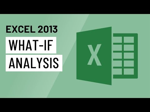 Excel 2013 What If Analysis Youtube