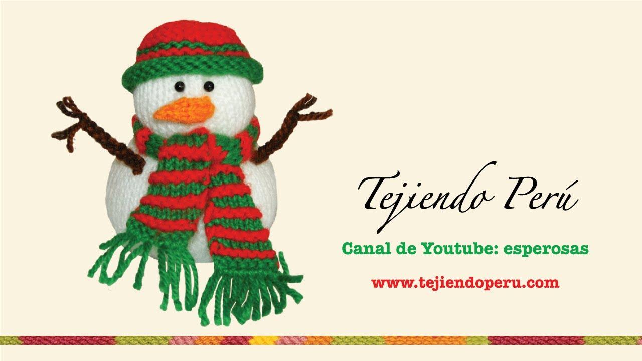 Hombre de nieves (snowman) en dos agujas - YouTube