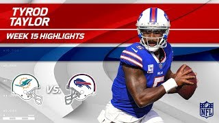Tyrod Taylor Leads Buffalo to Victory w/ 2 TDs vs. Miami!   Dolphins vs. Bills   Wk 15 Player HLs