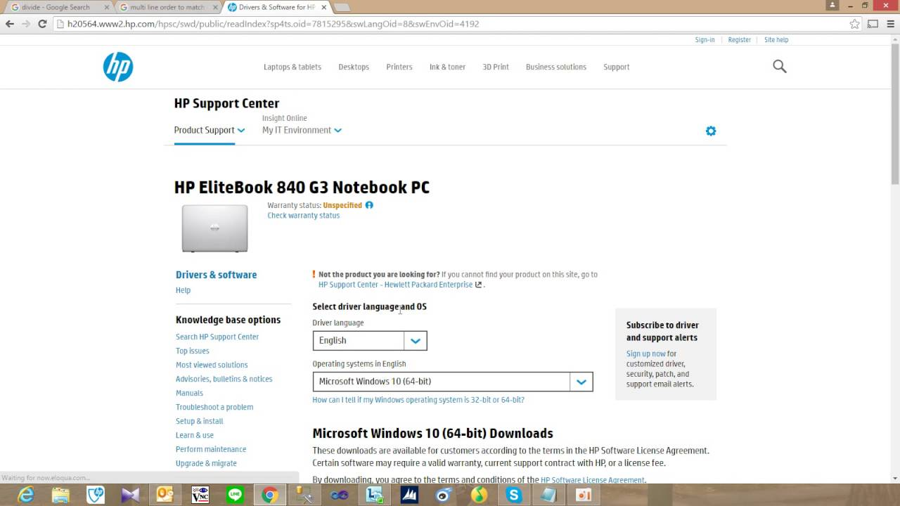 hp elitebook 840 g5 windows 7 drivers