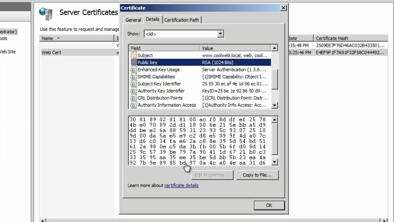 70 640 Certificate Services 2008 R2 Ssl Part 3 Ssl Binding The