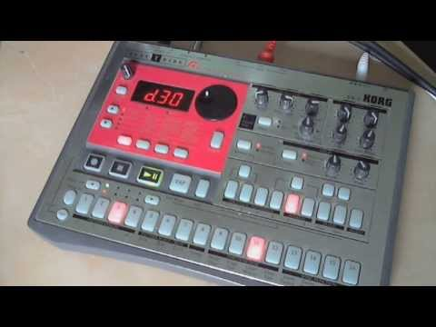 Korg Electribe ER-1 Drum Machine as a MIDI Sequencer