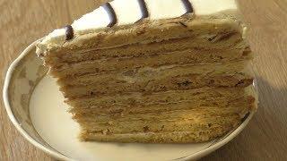 """Медовый торт """"Счастье""""/Медовик со взбитыми сливками"""