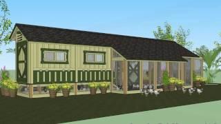 M201 - Chicken Coop Plans Construction - Chicken Coop Design - How To Build A Chicken Coop