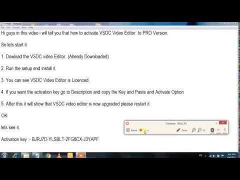 vsdc free video editor licence key