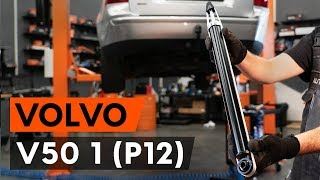 How to replace rear shock absorber on VOLVO V50 1 (P12) [TUTORIAL AUTODOC]