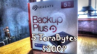 Seagate Backup+ 5TB Hard Drive Review / Unbox