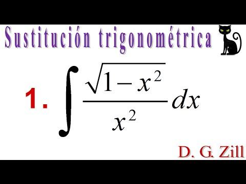 Integración por sustitución trigonométrica. Zill 7.5_1