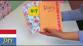 DIY membuat dan menghias sendiri buku catatan/ buku harian/ buku alamat