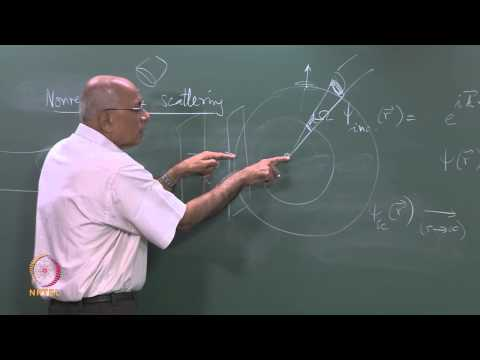 Mod-11 Lec-29 Green function for (Δ2 + k2); nonrelativistic scattering (Part I)