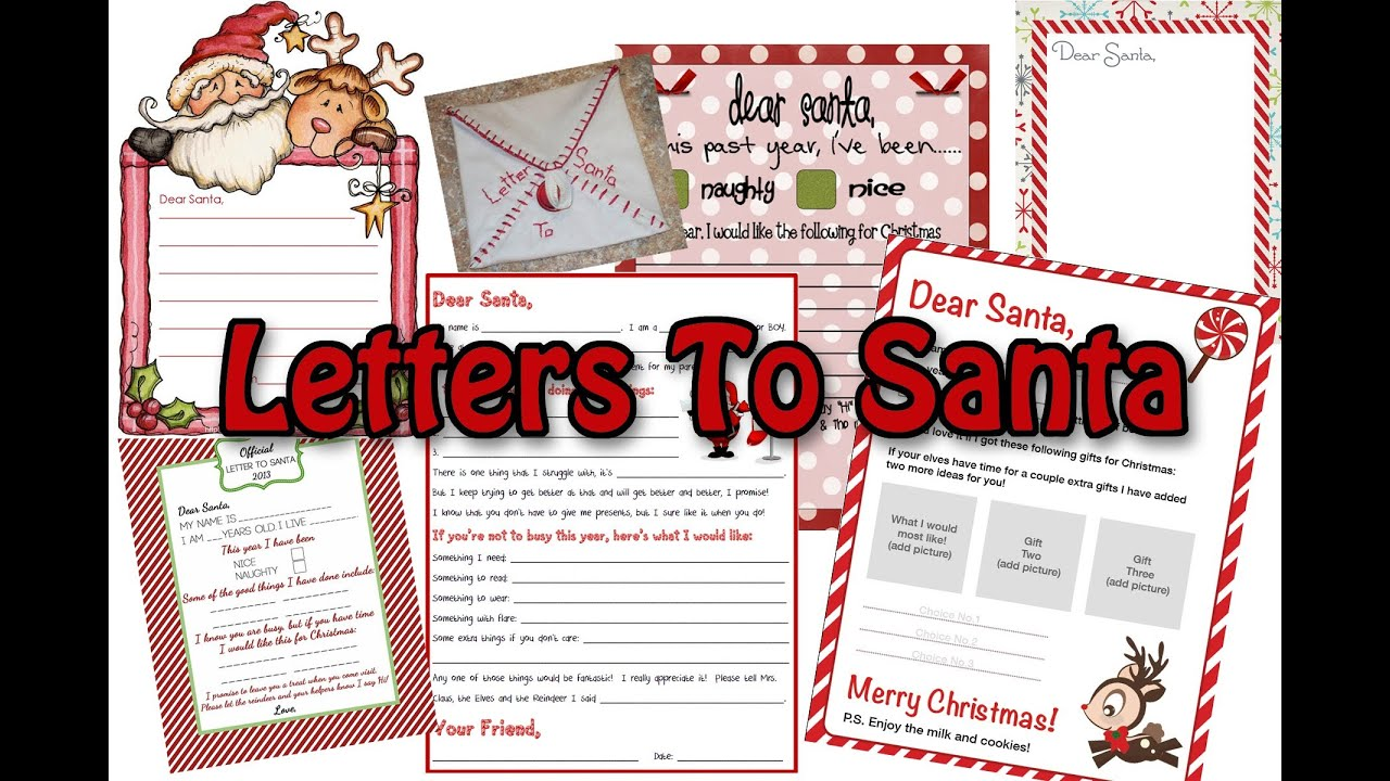 christmas letter from santa letters to santa tons of ideas to choose from 44349