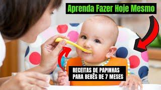 Receitas de papinhas para bebês de 7 meses  papinhas saúdaveis e nutritivas