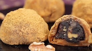 Walnut Daifuku with Sesame and Bean Paste Recipe | Cooking with Dog thumbnail