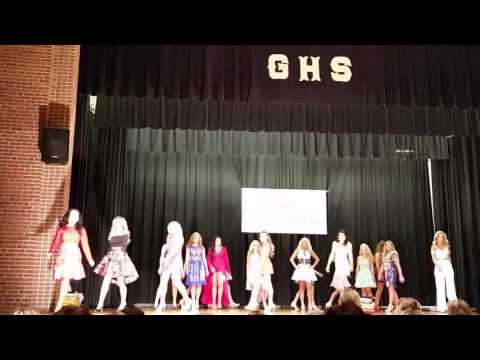 Openning of Miss Grundy High School Pageant