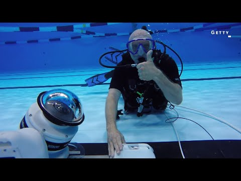 Getting the perfect Olympics shot with underwater robots