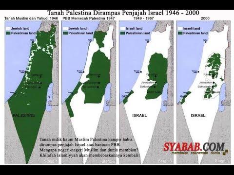TRAGIS !!! Beginilah Wilayah Palestina Dari Tahun Ke Tahun