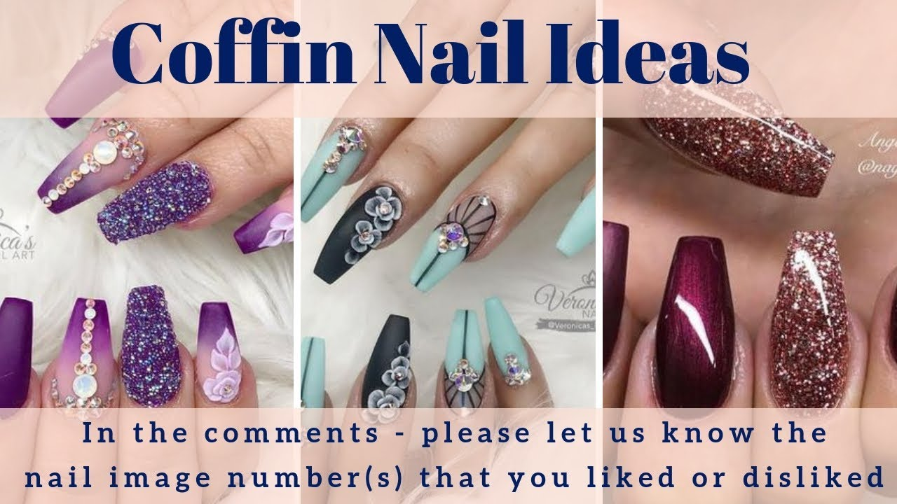 Coffin Nail Designs , 200+ Coffin Nail Art Ideas, Coffin Nail Polish,  Coffin Nail Shape