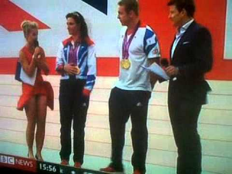 wind blows reporters dress up at paralympic ceremony - youtube