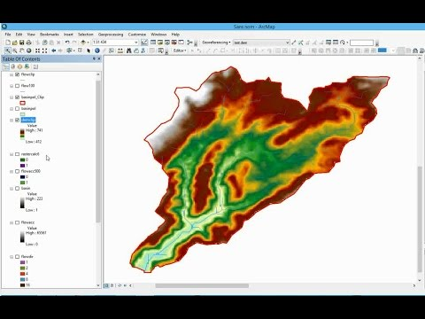 watershed delineation using DEM / spatial analyst in Arcgis