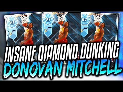 INSANE DIAMOND DUNK CHAMP DONOVAN MITCHELL! NBA 2K18 MyTEAM PACK OPENING! 2K18 DIAMONDS!
