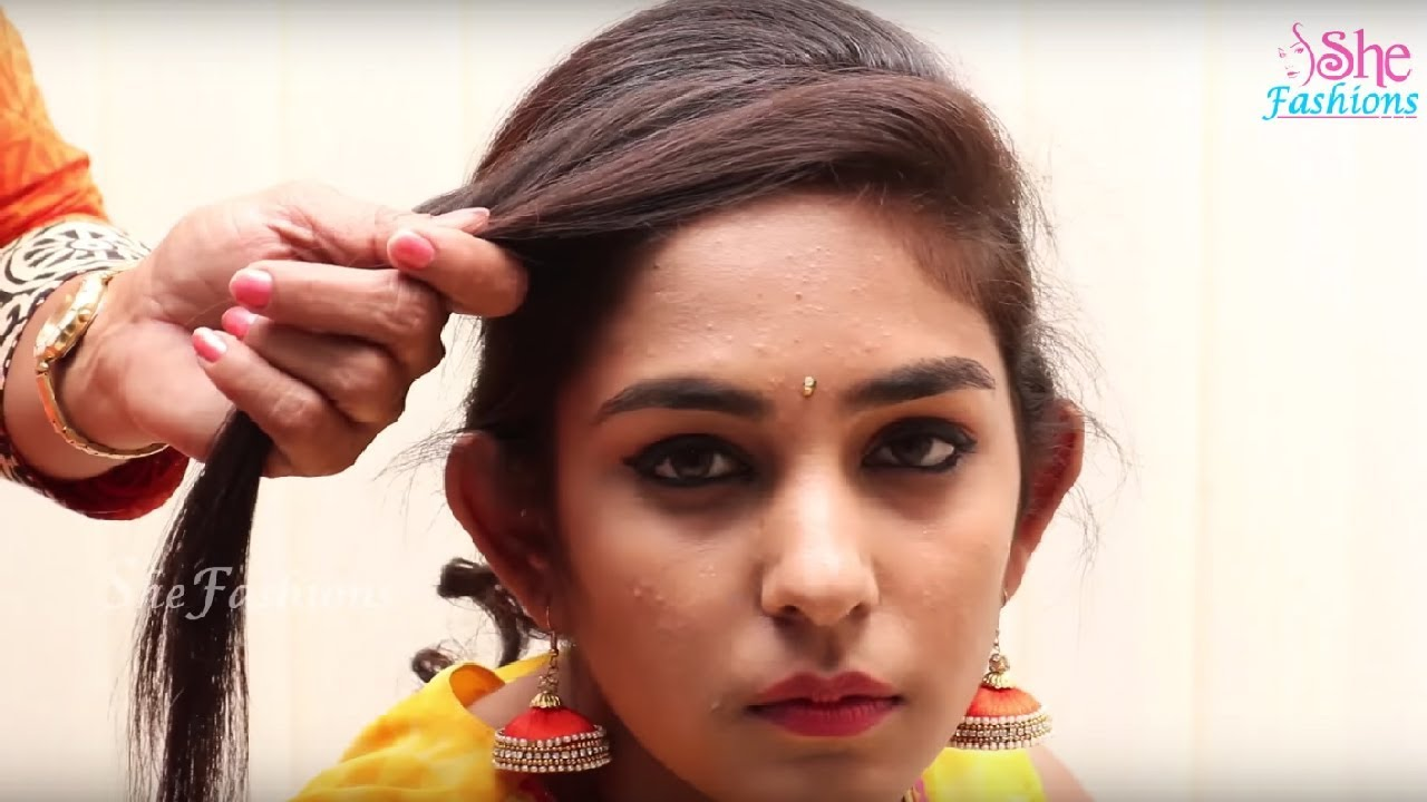 quick & beautiful bridal makeup & hairstyle tutorials | easy hairstyles for long hair