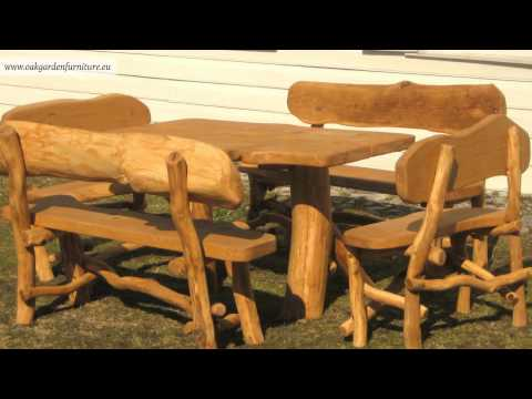 Rustic Garden Furniture Set