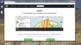 Download and install QGIS.