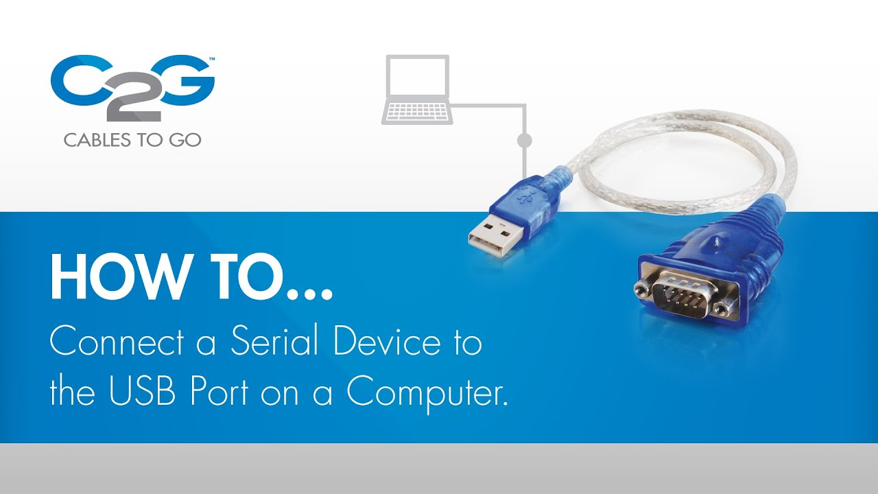How To Connect a Serial Device using USB  YouTube