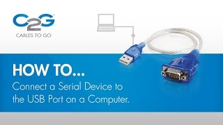 How To Connect a Serial Device using USB