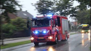 Brandweer Apeldoorn (TS 06-7732) met spoed naar een OMS bij de politie academie