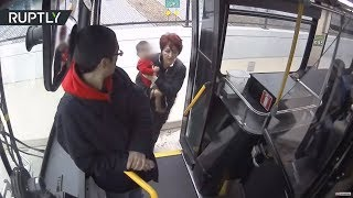 Bus driver saves lost barefoot baby on freeway overpass in Wisconsin