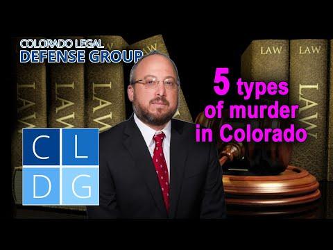 5 Types of Homicide in Colorado