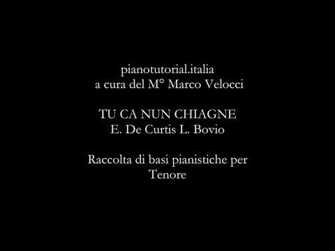 TU CA NUN CHIAGNE musica di  E. De Curtis testo L. Bovio - Backing track - piano bases collection