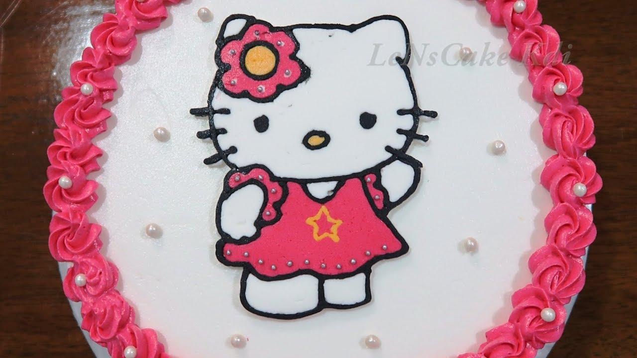 Happy Birthday Cake Hello Kitty Simple Tart By Buttercream