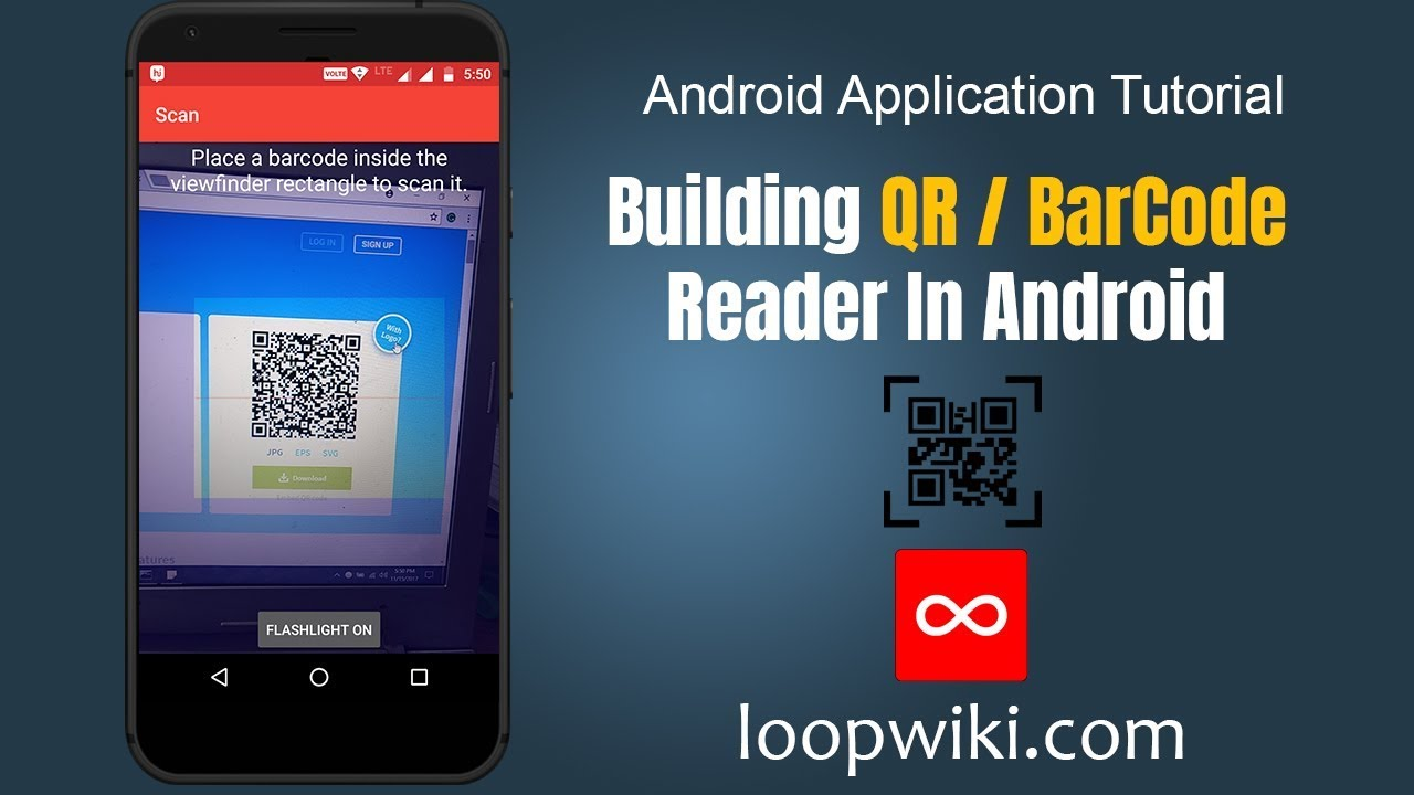 Android QR Code Scanner / Android Barcode Scanner Example | LoopWiki