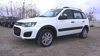 2017 Lada Kalina Cross. Start Up, Engine, and In Depth Tour.