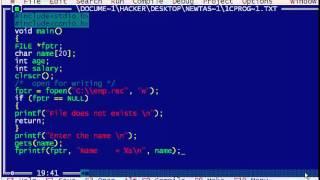 برنامج C لإنشاء ملف مخزن المعلومات