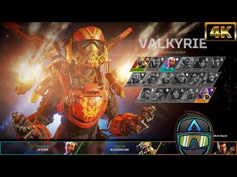 "New Apex Legends Valkyrie Launch Bundle Birthright Skin Intro Animation! ""#4K"""
