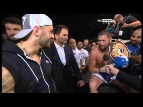 Bellew/Cleverly Slagging Match At Ringside
