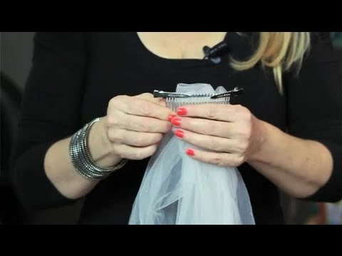 How To Connect A Wedding Veil Your Hair Combs Bridal Upstyles