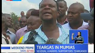 Chaos and teargas in Mumias as police disperse crowd opposed to Bukhungu BBI meeting