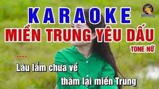 Miền Trung Yêu Dấu  Tone Nữ Karaoke │BEAT CHUẨN - PVQ Karaoke