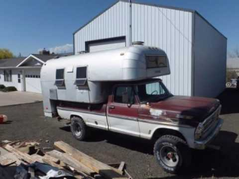 1968 Avion C 11 Aluminum Truck Camper Youtube