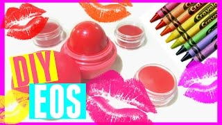 DIY EOS out of Crayons | Crayon Lipstick without Coconut Oil