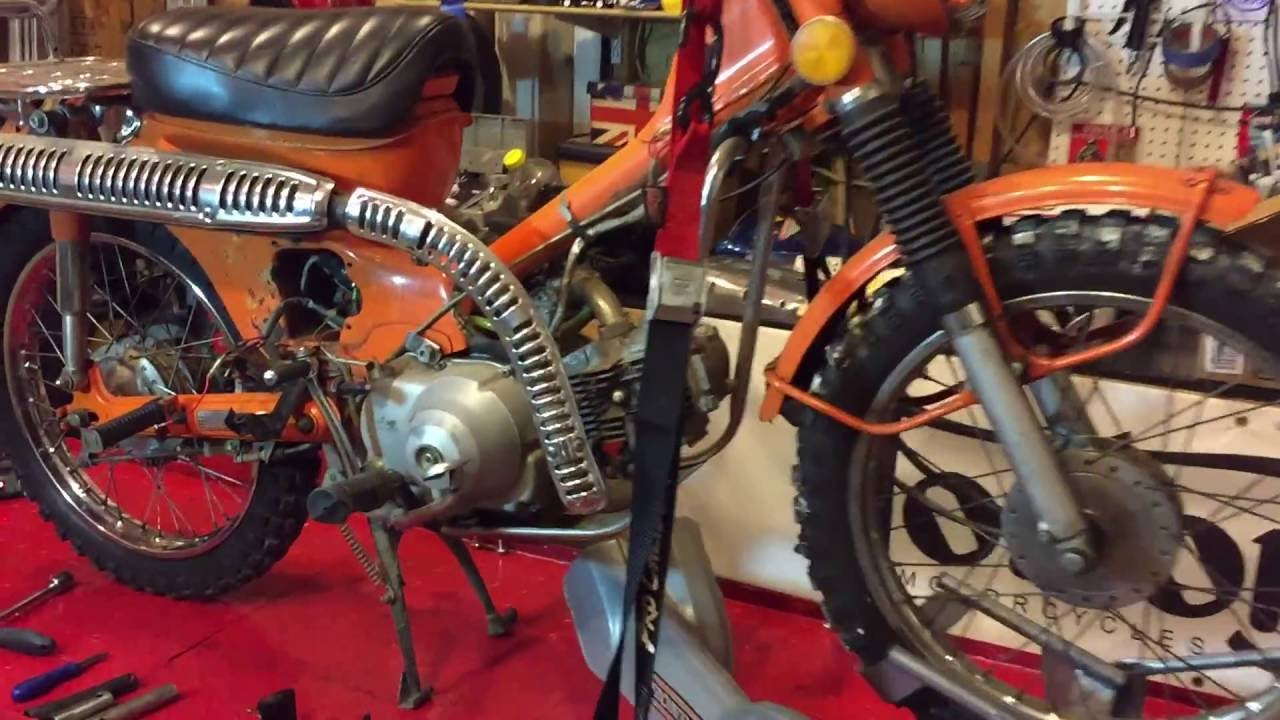 1972 Honda Ct90 Trail Motorcycle - Initial Inspection