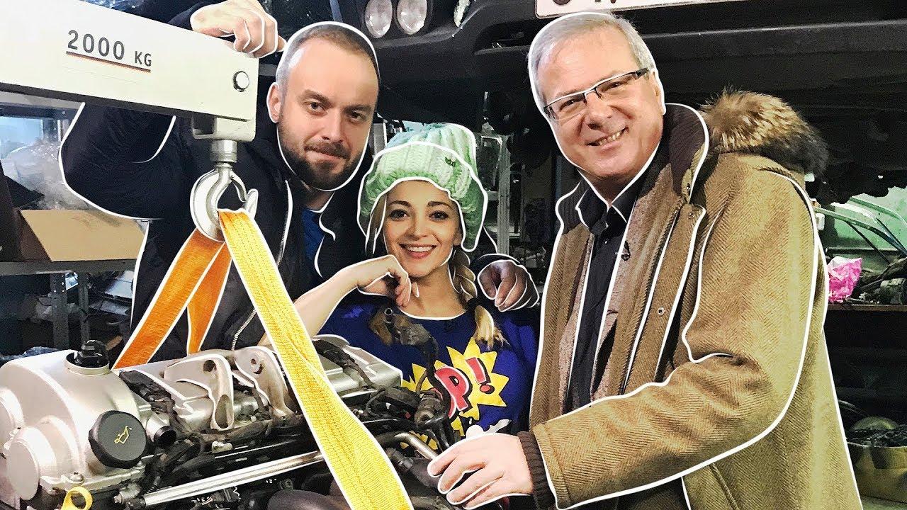 Теона Дольникова и Максим Щеголев собирают в гараже