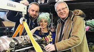 """Теона Дольникова и Максим Щеголев собирают в гараже """"поющий"""" Порше Кайен!"""