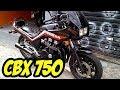 HONDA CBX 750 F - A MOTO DO SÉCULO E DE RONCO ESPETACULAR