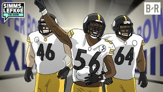 LaMarr Woodley's Epic Camera Story From Super Bowl XLIII | Simms & Lefkoe: The Show Untold Stories